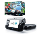Nintendo Wii U 32GB Game Console + Mario Kart 8 (Pre-Installed) Game Pack - Black 1
