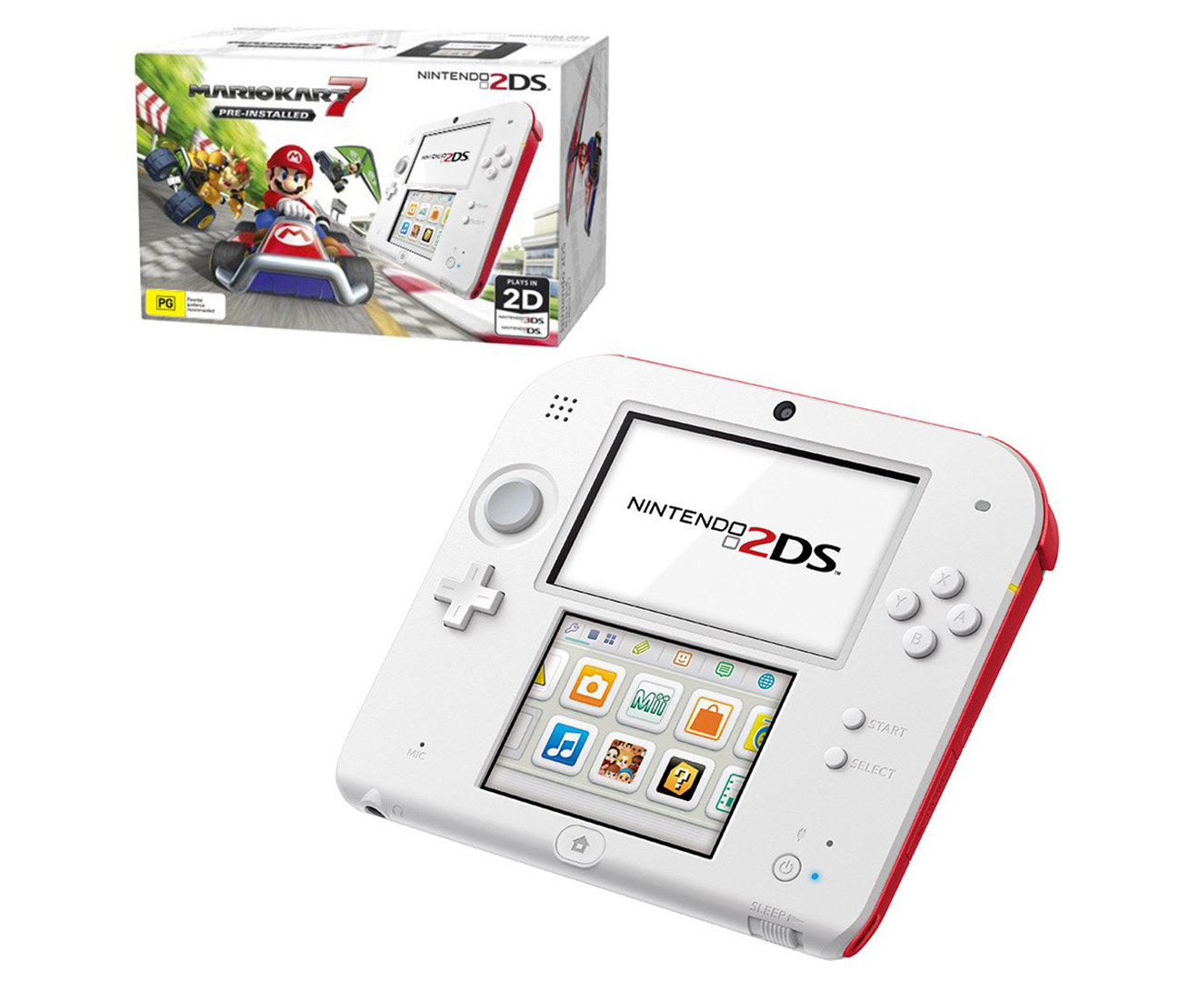 Nintendo 2ds game console mario kart 7 pre installed - Can you play 3ds games on 2ds console ...