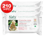 Naty by Nature Babycare Eco Sensitive Unscented Wipes 210pk 1
