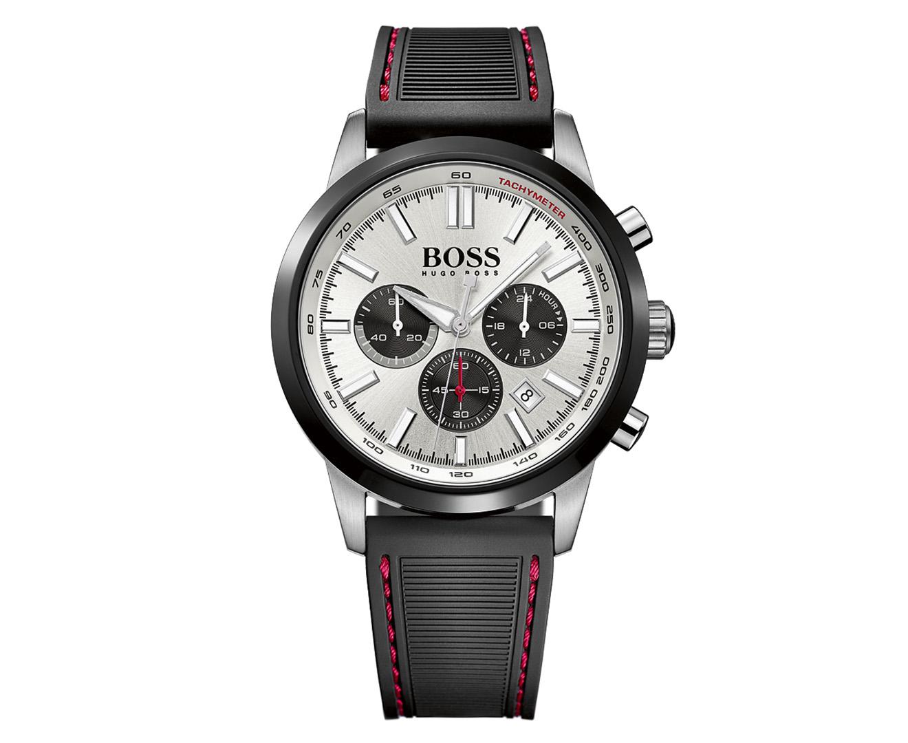Hugo Boss Mens 44mm Racing Chronograph Watch Black Dunlopillo Mattress Carriol 180 200