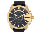 Diesel Men's 59mm Mega Chief Chronograph Watch - Black/Gold 1