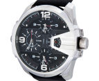Diesel Men's 55mm Uber Chief Leather Strap Watch - Black 3