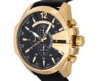 Diesel Men's 59mm Mega Chief Chronograph Watch - Black/Gold 3