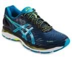 ASICS Men's GEL-Nimbus 18 Shoe - Poseidon/Blue Jewel/Safety Yellow 2