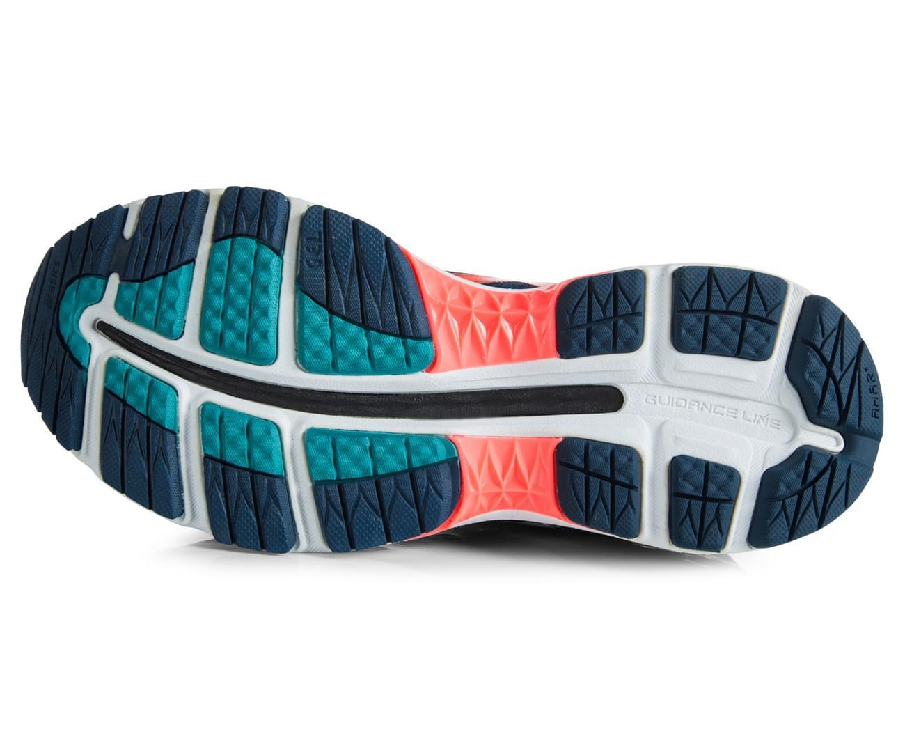 Asics 18 Zapato Gel Nimbus De Las Mujeres - Poseidon / Flash De Coral / Negro 2ouc006oB