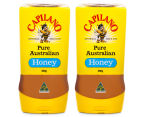 2 x Capilano Upside Down Squeezable Honey 500g 1