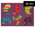 Asiatic Hand Tufted 160x110cm Birds Rug - Multi 1