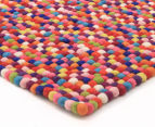Handcrafted 130x70cm Pure Wool Gumball Rug - Multi 2