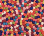 Handcrafted 120x120cm Pure Wool Gumball Rug - Multi 4