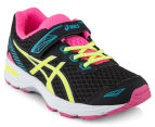 ASICS Pre-School Kids' GT-1000 5 Shoe - Black/Safety Yellow/Pink Glow 2