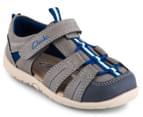Clarks Toddler Scuba Wide Fit Sandal - Charcoal/Blue 2