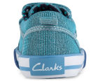 Clarks Kids' Devon Shoe - Light Blue Glitter 4