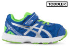 ASICS Toddler GT-1000 5 TS Shoe - Blue/White/Green Gecko 1