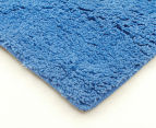 3 x Monroe 80x50cm Super Soft Microfibre Shag Rug - Blue 2