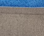 3 x Monroe 80x50cm Super Soft Microfibre Shag Rug - Blue 5