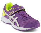 ASICS Pre-School Kids' Galaxy 9 Shoe - Orchid/Silver/Safety Yellow 2