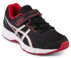 ASICS Pre-School Kids' Galaxy 9 Shoe - Black/Silver/True Red 2