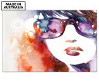Watercolour Sunglasses 90x59cm Canvas Wall Art 1