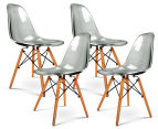 Set of 4 Eames Eiffel Dining Chairs - Transparent 1