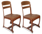 Set of 2 Eton Dining Chairs - Vintage Copper 1