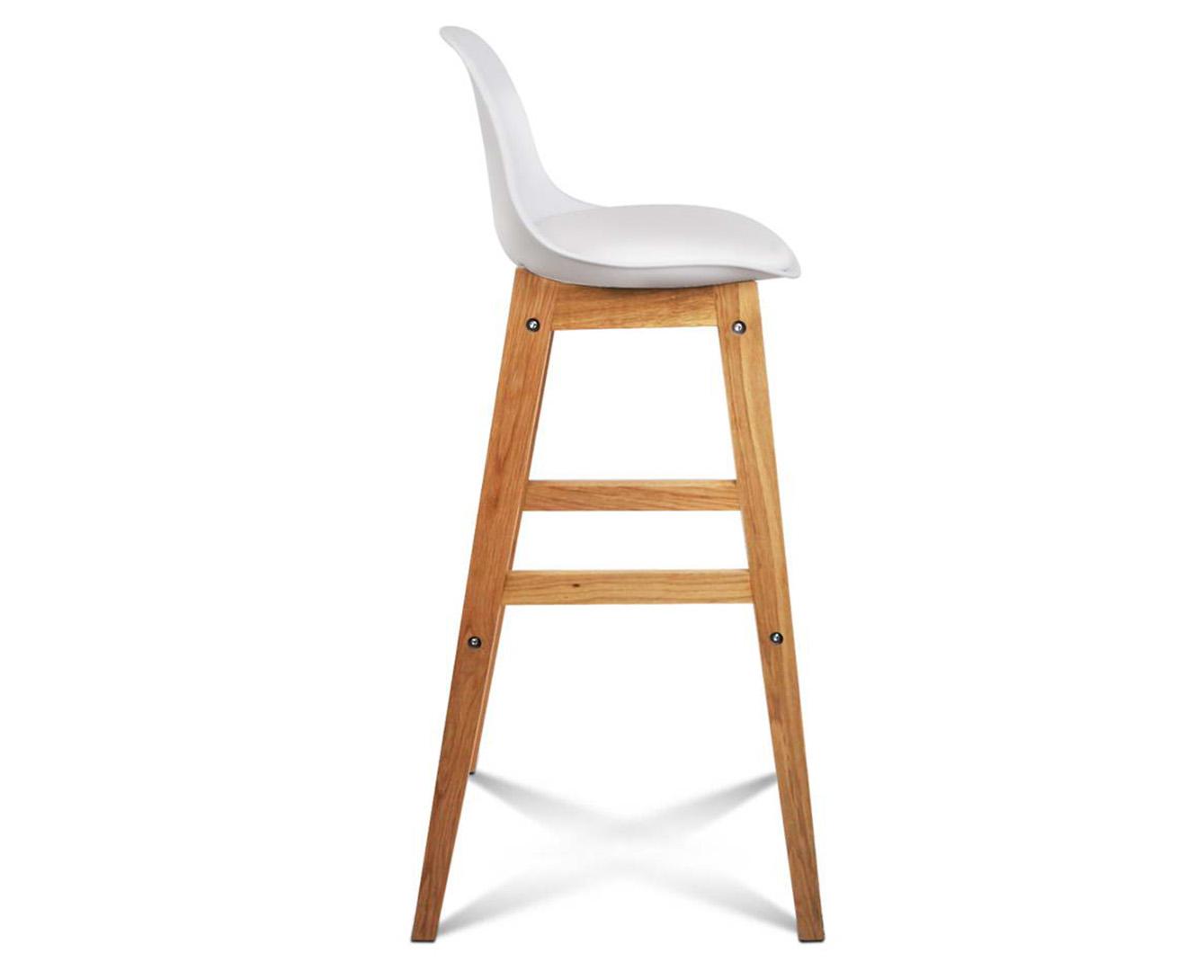 White Wood Bar Stools With Backs ~ Scoopon shopping set of eames high back bar stools