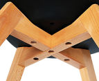 Set of 4 Eames Padded Dining Chair - Black 6