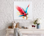 Parrot Landing 70x70cm Oil On Canvas Wall Art 2