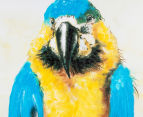 Blue & Gold Macaw 90x60cm Oil on Canvas Wall Art 4