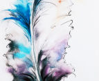 Feather Blues & Mauves 40x90cm Oil On Canvas Wall Art 4