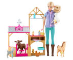 Barbie Farm Vet Doll & Playset 2