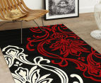 Iconic Modern 290 x 200cm Rug - Black/Red/Cream 2