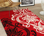 Iconic Modern 290 x 200cm Rug - Red/Cream/Black 2