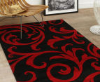 Iconic Modern 290 x 200cm Rug - Black/Red 2