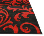 Iconic Modern 290 x 200cm Rug - Black/Red 3