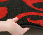 Iconic Modern 290 x 200cm Rug - Black/Red 4