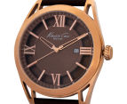 Kenneth Cole Men's 44mm Classic Leather Strap Watch - Rose Gold/Brown 3