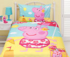 Peppa Pig Single Bed Reversible Quilt Cover Set - Summer 2