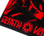 Star Wars 60x120cm Darth Vader Force Towel - Red/Black 3