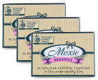 3 x Moxie Organics Regular Cotton Tampons 16pk 1