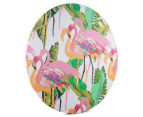 Cooper & Co. 80cm Round Canvas Wall Art - Flamingo 2