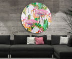 Cooper & Co. 80cm Round Canvas Wall Art - Flamingo 6