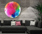 Cooper & Co. 60cm Round Canvas Wall Art - Rainbow Watercolour 6