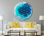 Cooper & Co. 80cm Round Canvas Wall Art - Blue Arrows 6