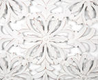 Square Frame 75x75cm Carved Wood Wall Hanging - Brushed White 5