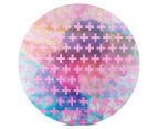 Cooper & Co. 80cm Round Canvas Wall Art - Pink Crosses 1