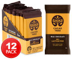 12 x Cacao Tree Milk Chocolate 98% Lactose Free Bars 50g 1