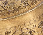 Vintage Look 13cm Round Etched Metal Box - Antique Gold 6