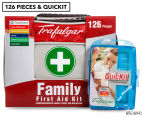 Trafalgar 126-Piece Family First Aid Kit + QuicKit 1