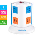 Safemore 2-Level Power Stackr - Blue/Orange 1