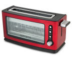 Russell Hobbs 2-Slice Perfect Toast Glass Wall Toaster - Red 1